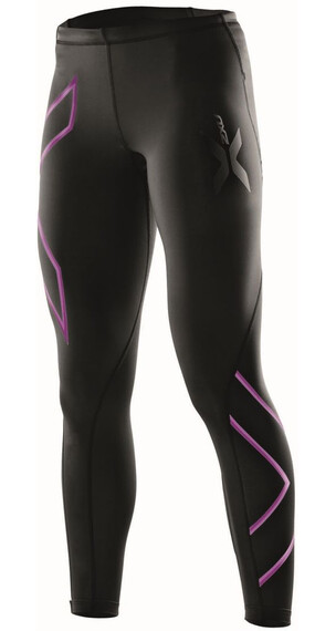 2XU W's Compression Tights Black/Musk logo